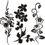 A set of 3 floral design elements. — Stock Vector #22533983