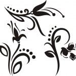 A set of 3 floral design elements. — Stock Vector #22533999
