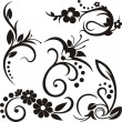 Royalty-Free Stock Immagine Vettoriale: A set of 5 floral design elements.