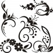 Royalty-Free Stock Imagen vectorial: A set of 5 floral design elements.