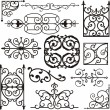 Set of 12 exquisitive and very cleornamental designs. — Stock Vector #22534225