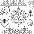 A set of 8 exquisitive and very clean ornamental designs. - Imagen vectorial