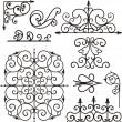 A set of 9 exquisitive and very clean ornamental designs. — Stock Vector
