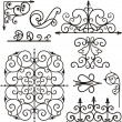 Set of 9 exquisitive and very cleornamental designs. — Stock Vector #22534293