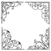 Utsökta hörnet dekorativa mönster — Stockvektor