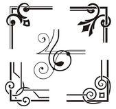 Exquisite Corner Ornamental Designs — Stock Vector