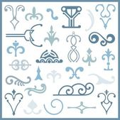 Ornamental design elements, vector series — Stock Vector