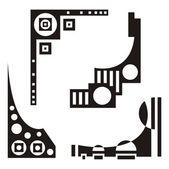 A set of urban design elements, vector series. — ストックベクタ