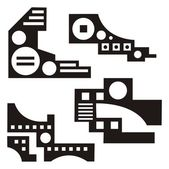 A set of urban design elements, vector series. — Stock Vector