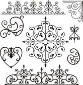 A set of 8 exquisitive and very clean ornamental designs. — Stock Vector