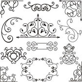 A set of 12 exquisitive and very clean ornamental designs. — Stock Vector