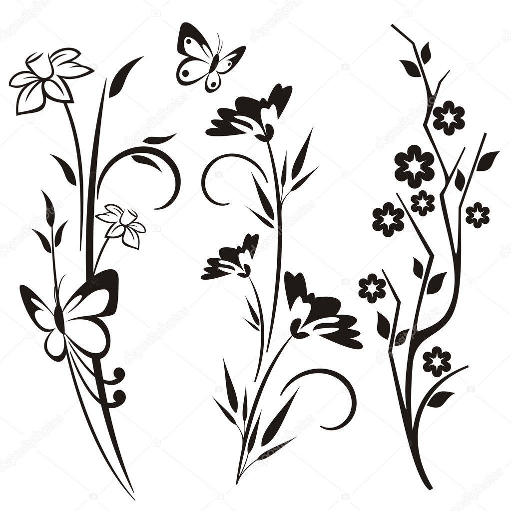 Трафареты цветы для декора стен своими руками