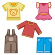Baby clothing. set - Stock Vector