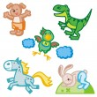 Baby icons series. Animals. — Stock Vector #22753187
