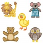 赤ちゃんアイコン シリーズ。動物 — ストックベクタ