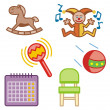 Stock Vector: Baby icons series.