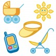 Baby icons series. - Stock Vector