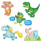 Baby icons series. Animals. — Stock Vector