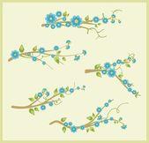 Branch design set in a single style, vector illustration series. — Stockvektor