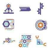 A vector set of technical design elements. — Stock Vector