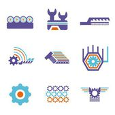 A vector set of technical design elements. — Stock Vector