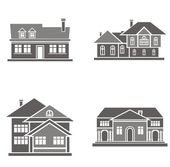 Vector illustrations of four houses. — Stock Vector