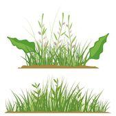 Sada prvků návrhu květinové trávy, vektorové ilustrace série. — Stock vektor