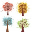 Stock Vector: Vector fancy tree designs.