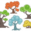 Vector tree designs in cartoon style. — Stock Vector #26793583