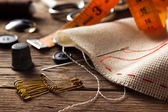 Sewing accessories — Stockfoto