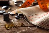 缝纫配件 — 图库照片