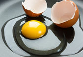Egg with shell — Stock Photo