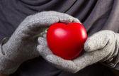 Hart in handen — Stockfoto
