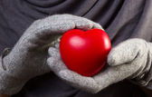 Hjärtat i händer — Stockfoto