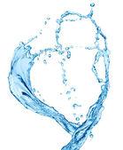 Su kalp — Stok fotoğraf