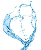 Water heart — Stock fotografie