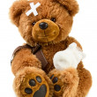 Teddy with bandage — Stockfoto #46116707