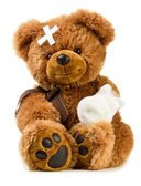 Teddy with bandage — Stock Photo