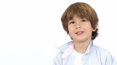 Happy kid playing baseball — Stock Video