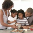 Afro-American family baking — Video