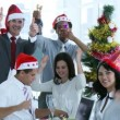 Business team celebrating Christmas in the office — Stock Video #22646705