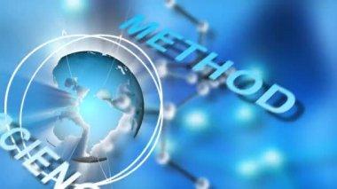 Animering av global koncept — Stockvideo