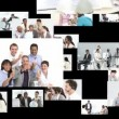 Footage montage showing business team work — Stock Video