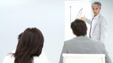 Mature executive giving a presentation — Stock Video