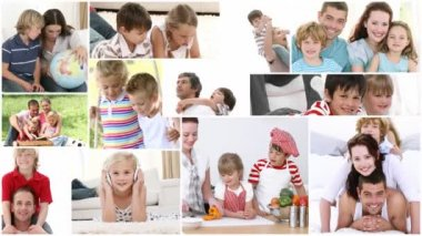 Video montage of kids enjoying spare moments — Stock Video
