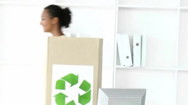 Positive business team recycling — Stock Video