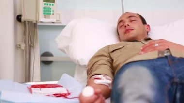Two patients transfused — Stock Video