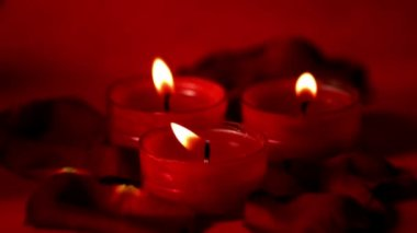 Candles flickering — Stock Video