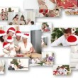 Montage of cute families celebrating christmas — Stock Video