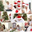 Anination of a caucasian family celebrating christmas — Stock Video